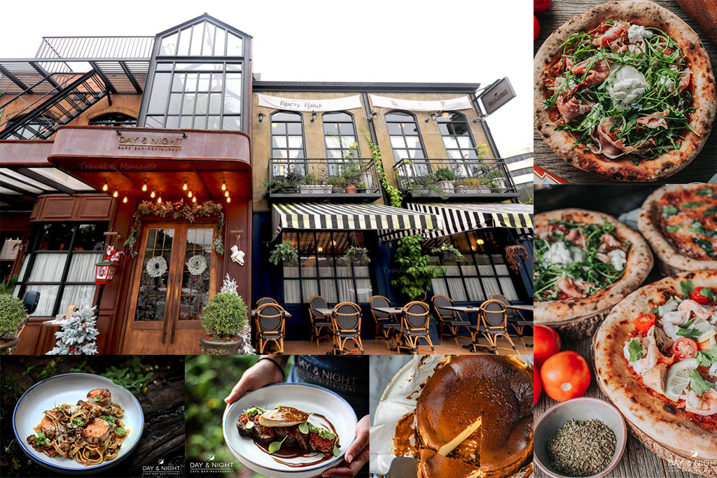 Day & Night offers a mix of western and Thai fusion in a stylish setting