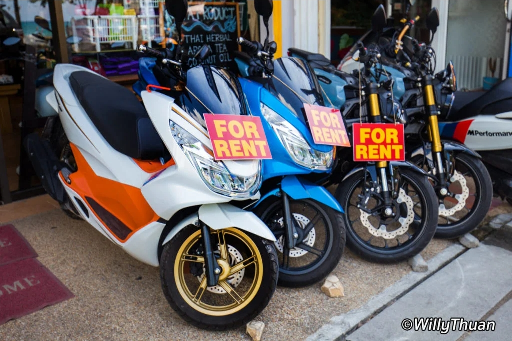 Motorbikes and scooters for rent
