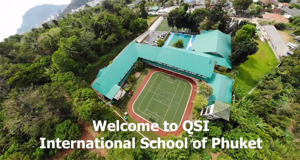 Aerial view of QSI's sports field