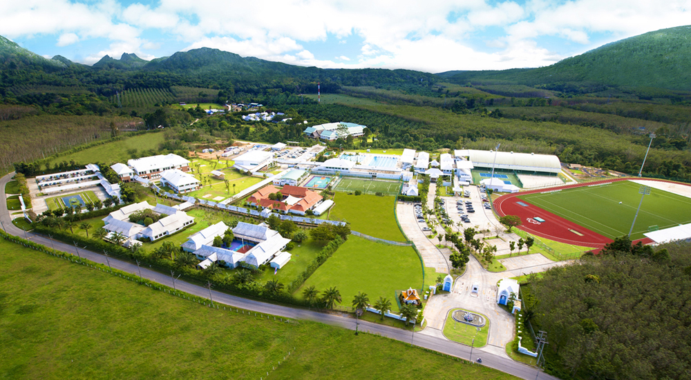 Aerial view of UWCT campus and Thanyapura sports center