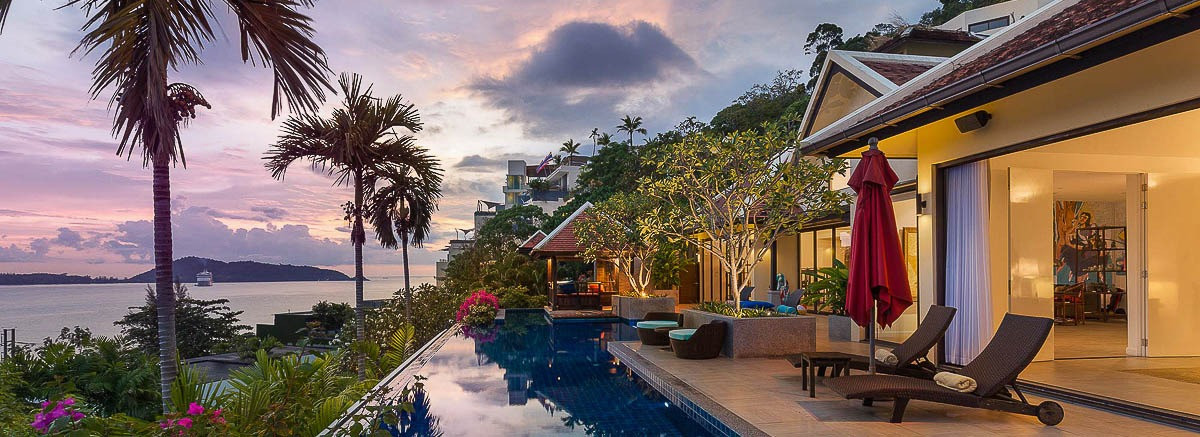 Sea view private pool villa with infinity-edge pool